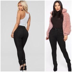 Fashion Nova High Waist Black Skinny Jeans 3342